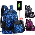 Детский Камуфляжный школьный рюкзак для мальчиков  школьный рюкзак  набор для подростков  школьный рюкзак для девочек  2019