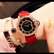New Ladies Watch Crystal Starry Face Quartz Waterproof Belt Trend Buckle 30 Meters Fashion & Casual Chronograph