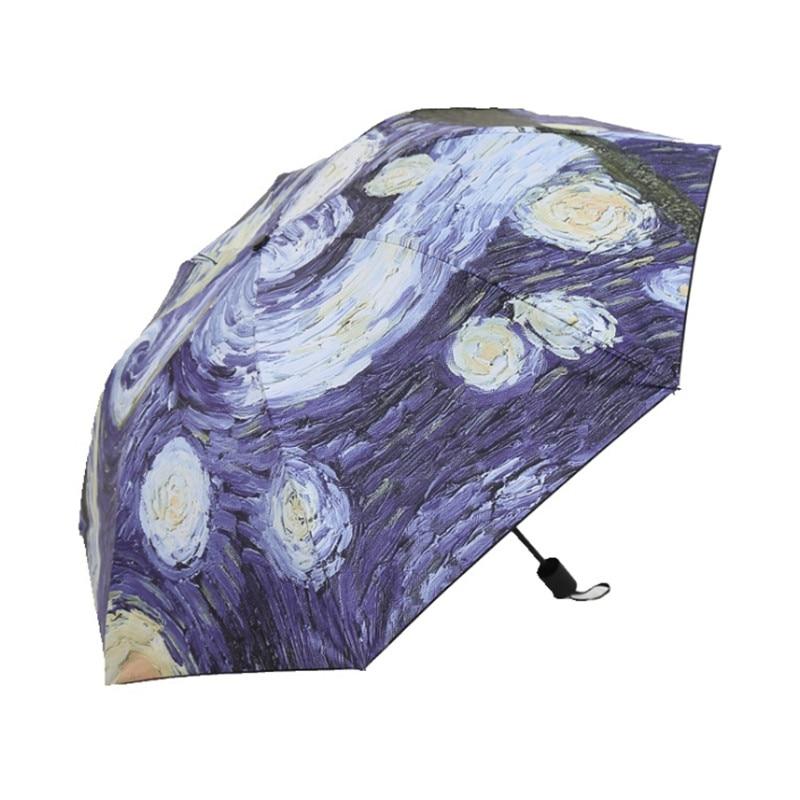 Rain Gear Charitable Dolrleta Abstract Art Craft Umbrella Rain Women Fold Parasol Umbrella Hot Sale 50-70% OFF