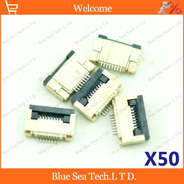 50pcs <font><b>FPC</b></font>/FFC connector <font><b>cable</b></font> socket <font><b>8</b></font> <font><b>pin</b></font> 0.5mm connector for LCD screen interface of DVD/GPS/MP3/PDA/Phone ect.ROHS image