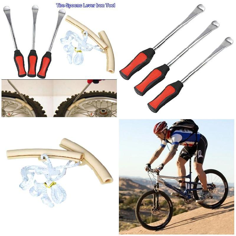 3pcs Professional Leverage Tire Spoons Lever Iron+2pcs Rim Protector Tool Kit Motorcycle Bike Tire Change Kit CSL2017
