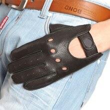 Hot MenS New Sheepskin Gloves Driving Anti-Skid Full Finger Imitation Deerskin M045W-5