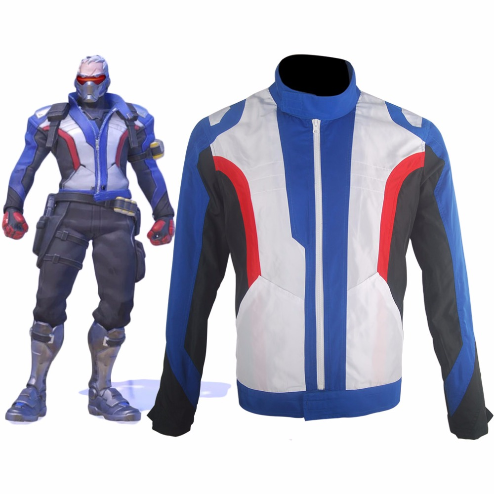 Soldier 76 Coat Jacket  Outfit  Comic-con Halloween Cosplay Costume