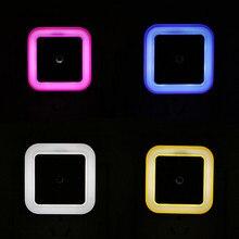4Pcs Light Sensor Control Night Lights Mini EU US Plug Square Bedroom lamp For Baby Gift Romantic Colorful LED Lights