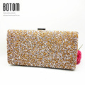 Famous Brand Woman Evening bag Women Diamond Rhinestone Clutch Crystal Day Clutch Wallet Wedding Purse Party Banquet Gold Silver