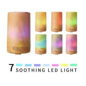 Image 5 - 自動アロマディフューザー + 加湿器 + 夜の光 3 · イン · 1 超音波ミニサイレント木目アロママシン加湿器
