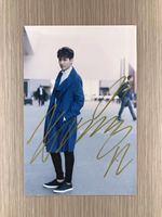 Podpisano KRIS Wu Yifan autografem oryginalny zdjęcie 6 cali freeshipping 06201703