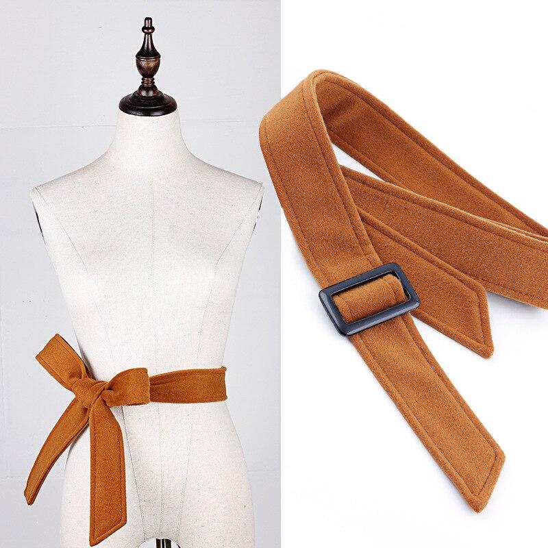 Bekleidung Zubehör Bescheiden Woolen Mantel Gürtel Damen Mode Einfarbig Fliege Gürtel Windjacke Kleid Gürtel Für Frauen Knitterfestigkeit