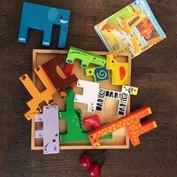 Tetris Wooden Jigsaw Puzzle Children Kids Boy Brain Teaser Rompecabezas Educational Toy Jeux Educatif Games For Kids 60D0050