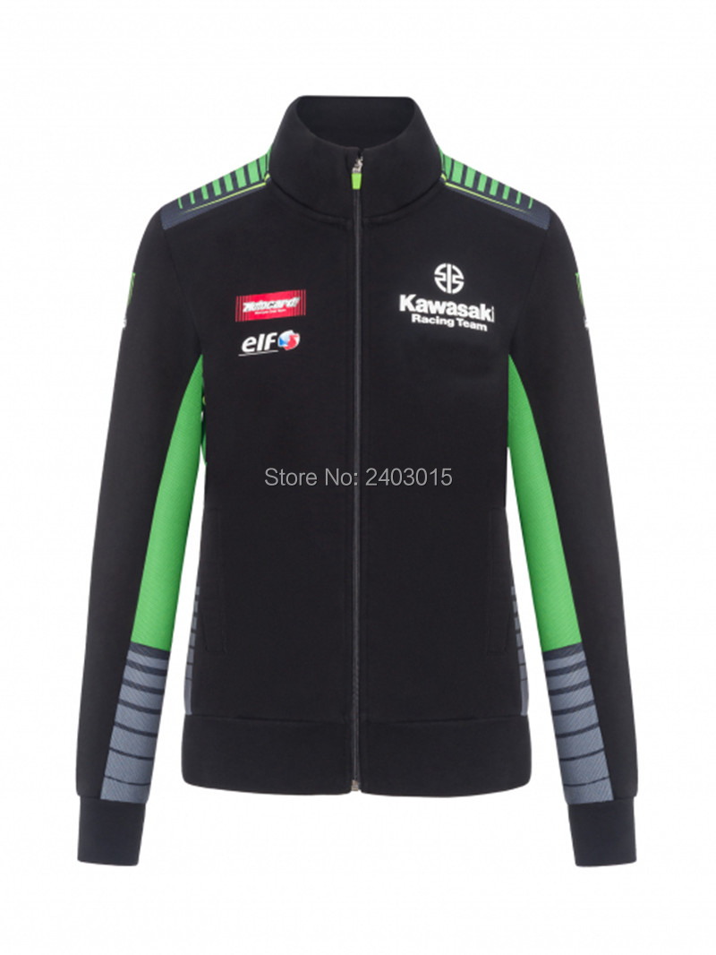 Free shipping 2019 Moto gp Motorcycle Sweatshirt Racing suit biker riding hooded casual for Kawasaki