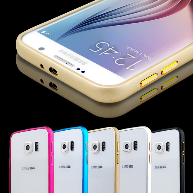 buy popular 752f7 9eb85 US $5.06 |S6 case bumper New Aluminium Metal Bumper Cover Anti Knock Frame  Case for samsung galaxy s6 S 6 G9200 bumper case accessories on ...