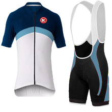 new design KEIYUEM white/blue Riding jersey Team Cycling Wear suit men Slim short-sleeved sports jersey cycling clothing