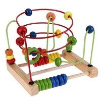 Montessoriของเล่นนับวงการA Bacusลวดเขาวงกตลวดรถไฟเหาะเด็กเด็กไม้ของเล่นของ