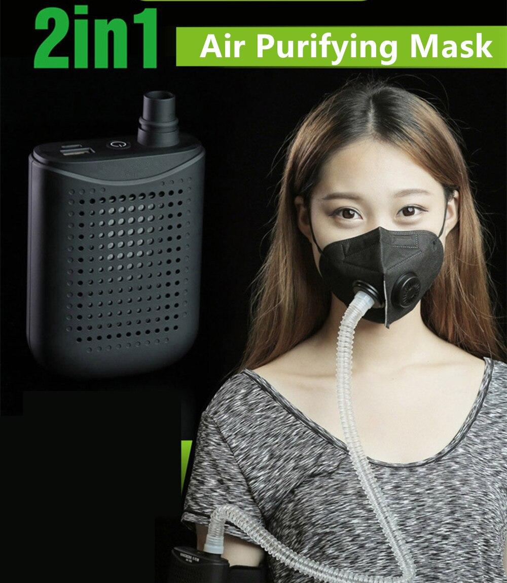Akku Luft Reinigende Maske Luft Reinigung Maske Reiniger Anti Bakterielle Maske Staub proof Air Reinigende Maske-in Masken aus Haar & Kosmetik bei AliExpress - 11.11_Doppel-11Tag der Singles 1