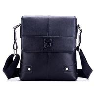 BULLCAPTAIN Men's Suitcase Bag Genuine Leather Men's Shoulder Bag Crossbody Small Men's Business Messenger Bag
