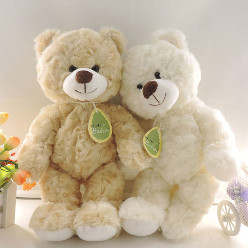 1 Piece 30cm Small Cute Teddy Bears Stuffed Animals Soft Plush Toys White Beige Brown