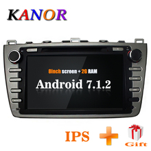 KANOR Android 7 1 Quad core 2 16g IPS 2din Car Radio stereo For Mazda 6