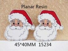 5Y15234 David accessories 45*40 мм Рождество плоская полимерная поделки украшение праздника аксессуары