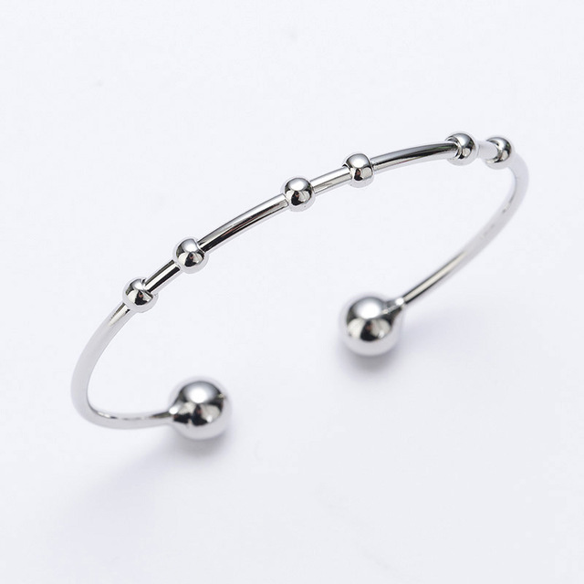 Mark Beryy till Hot fashion openings round bead bracelet silver