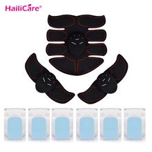 USA Stock 8 Packs ABS EMS Trainer Gel Sheet Fittness Body Shaping Massager EMS Abdominal Electric Muscle Stimulator