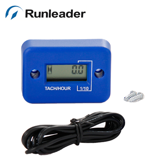 1pc Tachometer Hour Meter For Gas Engine motorbike motorcycle glider jet boat ATV Dirt quad bike pit jet ski