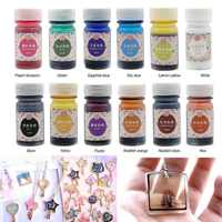 12 Bottles 12 Color Epoxy UV Resin Coloring Dye Colorant Resin Pigment Jewelry DIY Handmade Art Craft Making Accessories Set