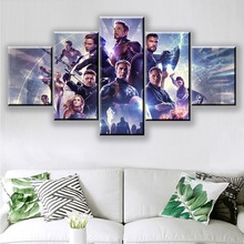 5 Piece Movie Avengers 4 Endgame Hero Character Wall Art HD Picture Home Decoration For Living Room Printed Type Canvas Painting