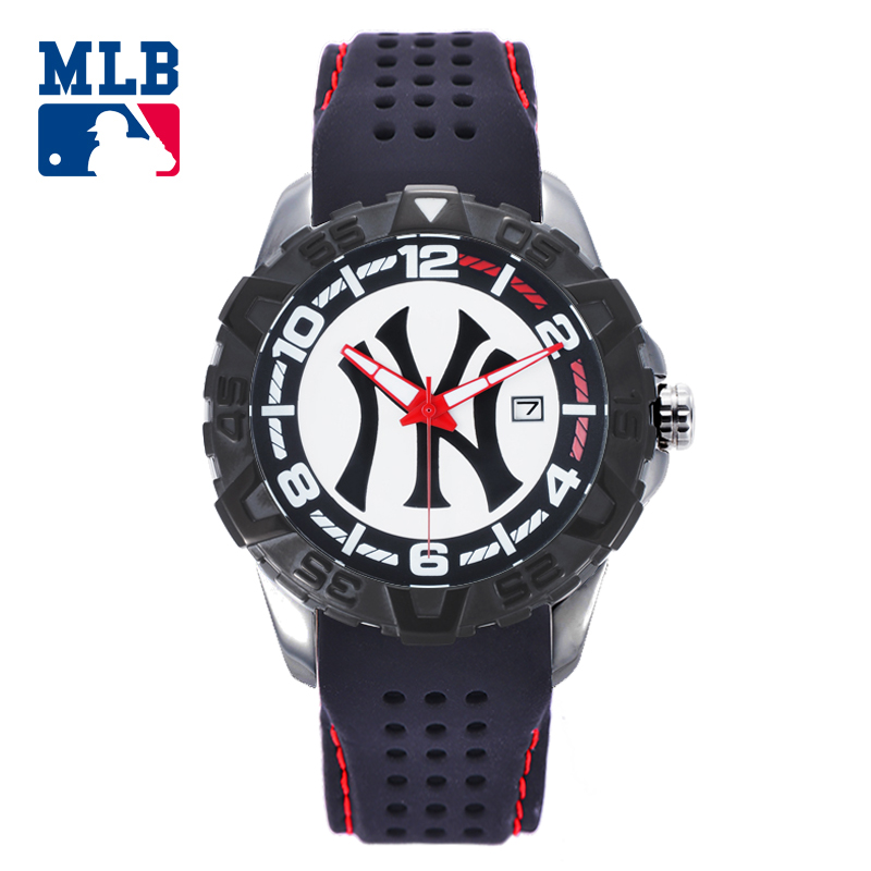 MLB NY Fashion Cool Watches Rubber Watch Band Waterproof Luminous Lover Watches Men Women Quartz Sport Wrist Watch D5008 mlb ny fashion luxury wrist watches waterproof luminous hands stainless steel men watch quartz casual sport wrist watch d5014