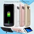 Caja del teléfono móvil para samsung s7 edge caso 5000 mah cubierta de batería de reserva para samsung galaxy s7 edge g935 (CE FCC RoHS) cubierta Trasera