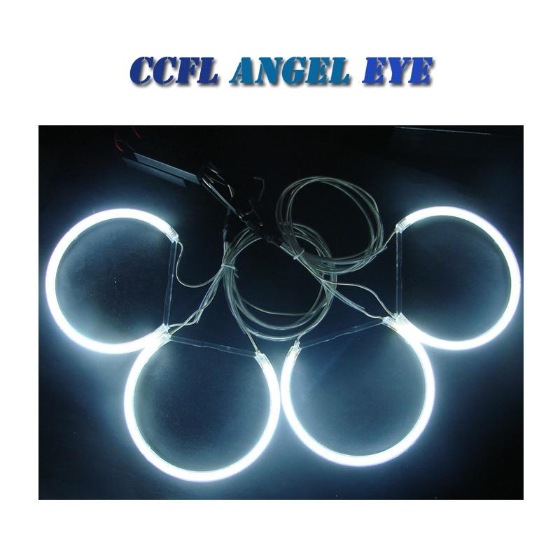 7000K White CCFL Angel Eyes Halo Rings Lighting for BMW E36 E46 E38 E39 3 5 7 Series Kit headlight with inverters