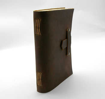 Junetree handmade Traveler\'s Note Book notebook brown Genuine Leather Cowhide leather diary vintage