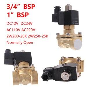 "Image 5 - 1/4"" 3/8"" 1/2"" 3/4"" 1"" Normally Open N/O Brass Electric Solenoid Valve 12V 24V 220V 110V Pneumatic Valve for Water Oil Air Fuel"
