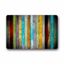Classic Vertical Stripes Wood Custom Doormat (23.6*16.7)Machine Washable Home& Kitchen doormat