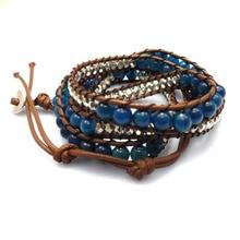Bluedragon браслет с бусинами дизайн кожаный браслет ручной работы