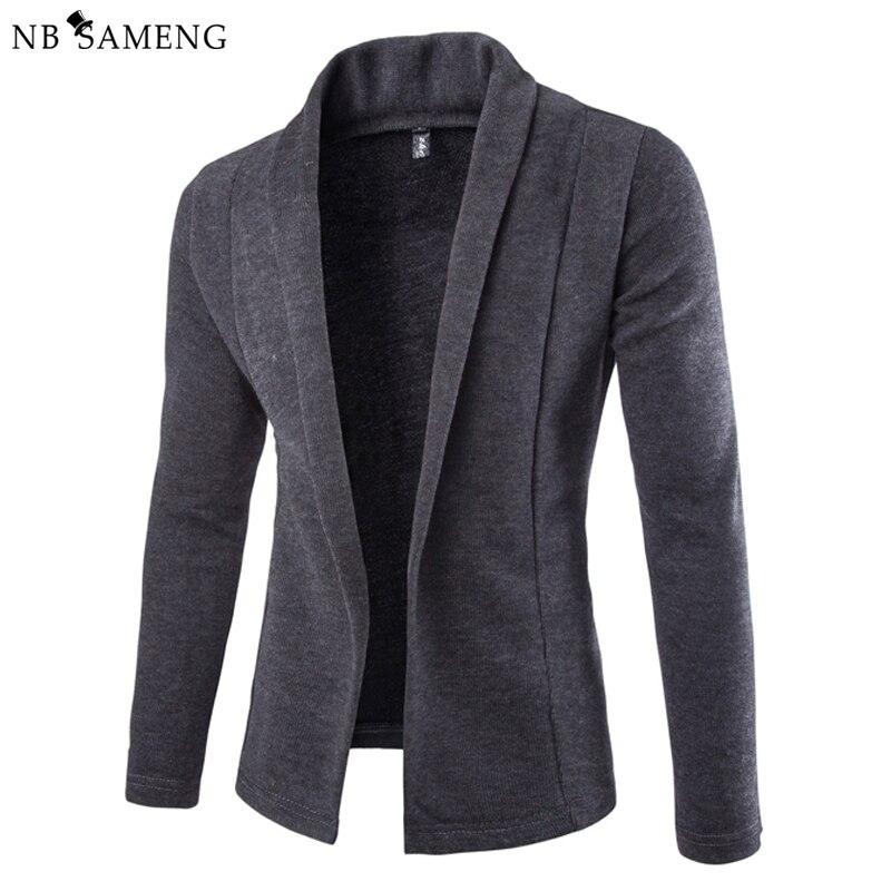 119a8abc3c2b97 € 29.05 |2018 Britannique Style Tricoté Chandail Hommes Mode Solide  Cardigan Chandails Sans Bouton Hommes Blazer Veste Pulls Cardigans dans de  sur ...