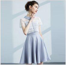 74270ac64d Women Dress 2018 Summer Hollow Out Lace Turn-down Collar Short Sleeve  Vestido Korean Sweet Beauty Dress 68056 Feminina Vestidos
