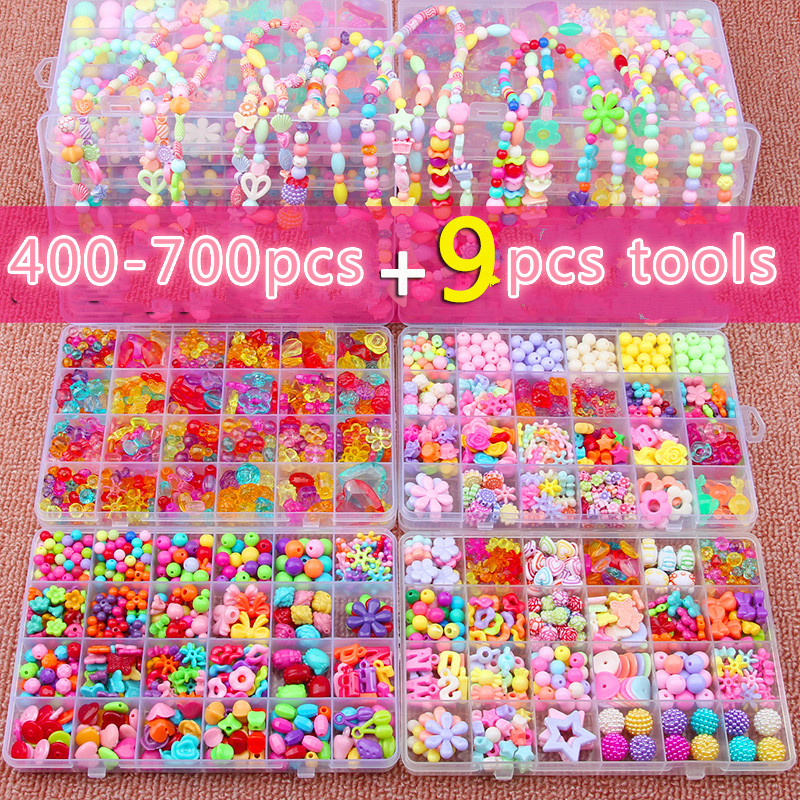 Children's Hand-made Bead Toy Diy Wears Beads Hand-made Materials To Make Girls Gift