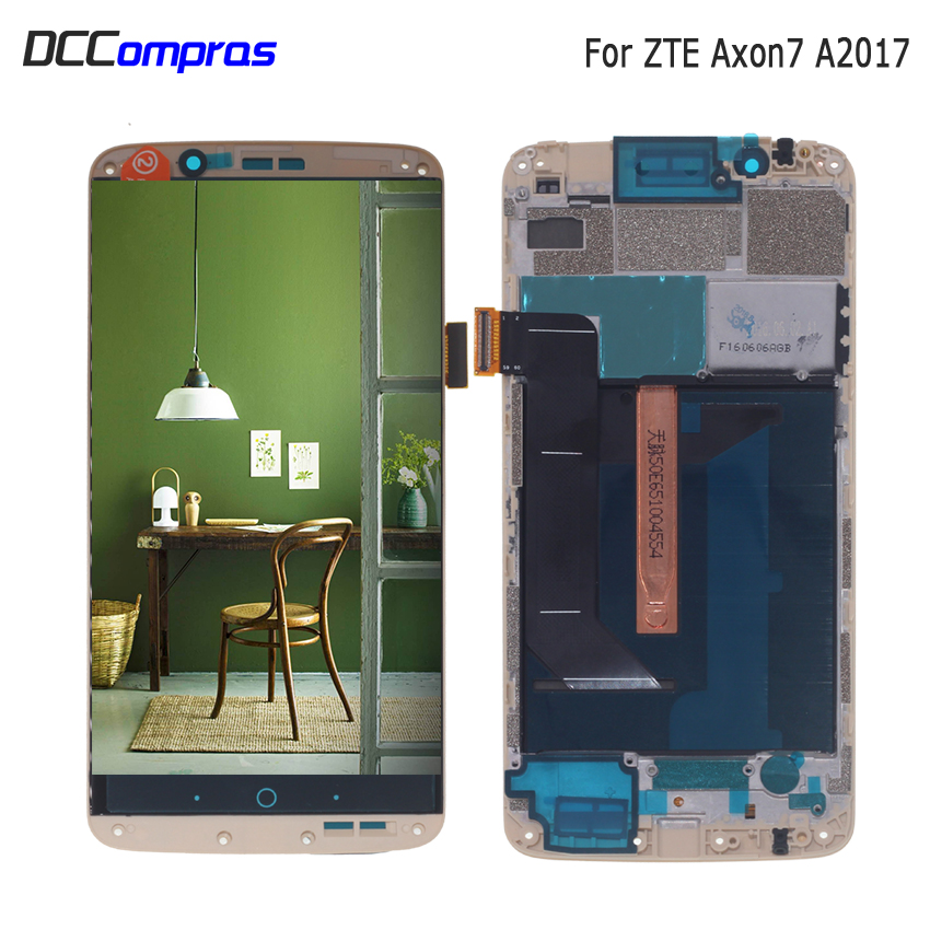 Image 1 - Original AMOLED For ZTE Axon 7 LCD with frame display Touch Screen Digitizer Assembly For ZTE A2017 A2017U A2017G Axon7 LCD-in Mobile Phone LCD Screens from Cellphones & Telecommunications
