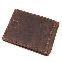 Brand Men Money Clip Fashion Men Billfold Genuine Leather Business Card Organizer Cases Credit Card Wallets Pop Up Automatically цены