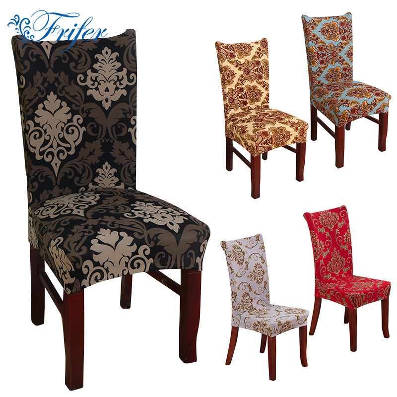 Vintage Anti Dirty Stretch Chair Covers Elastic Dining