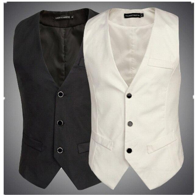 Новая мода жилет мужской случайные костюм жилет топы жилет бизнес slim fit мода colete masculino