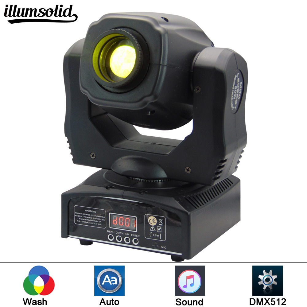 LED Gobo 60W Stage Lighting DMX512 DJ Party Eyourlife LED Inno Pocket Spot Mini Moving Head Light 60W Spot Light цена