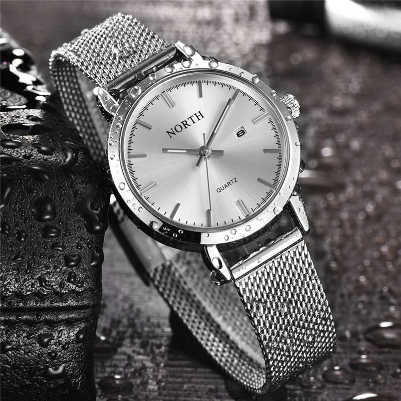 Luxury Brand New Women Watches Full Steel Date Quartz Watch Women Waterproof Lady Fashion Casual Sports Clock Female Wristwatch