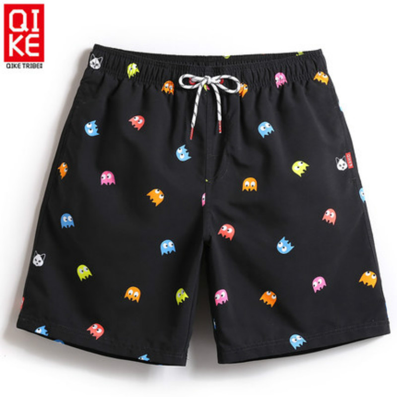 Summer Beach Shorts Men Swimming Trunks Breathable Quick Dry Sport Polyester Men's