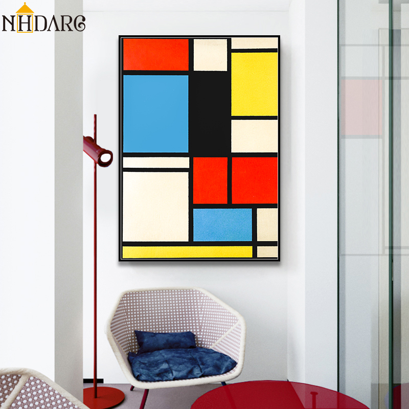 Geometric Art Paintings Prints Inspired By Mondrian
