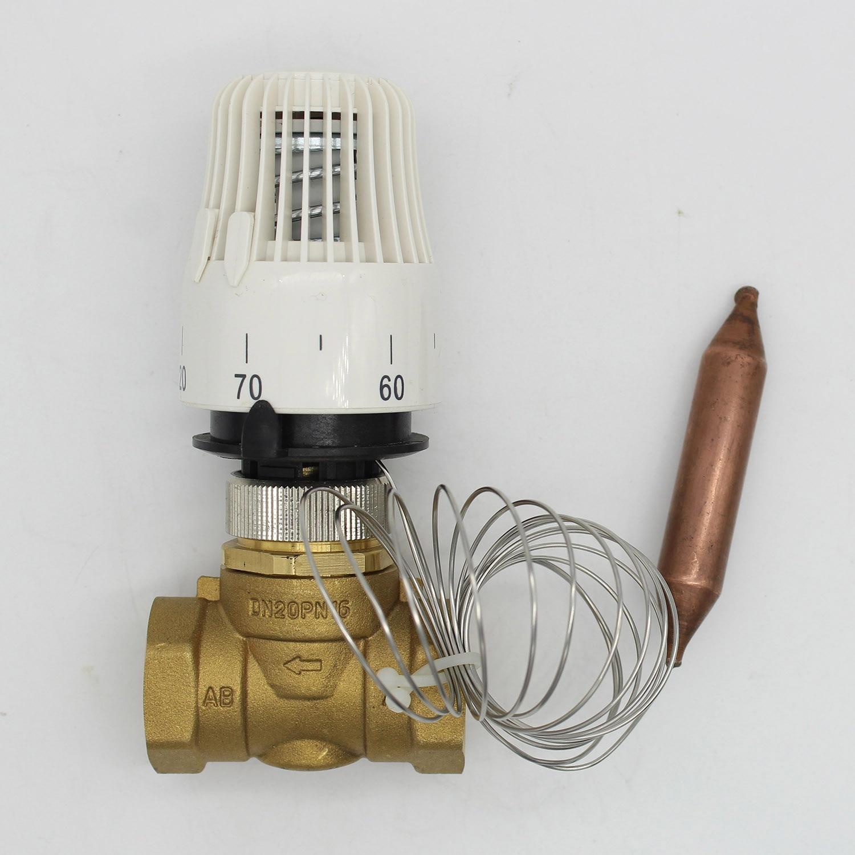 Ventil Energiesparende 30-70 Grad Control Boden Heizung System Thermostatventil M30 1,5 Remote Controlle 2 Weg Messing Ventil Stabile Konstruktion