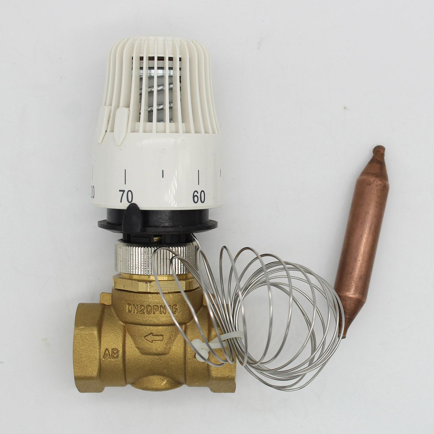 Energy saving 30-70 degree control Floor heating system thermostatic radiator valve M30*1.5 Remote controlle 2 way brass valve dn20 manual setting valve balance flow in two pipe heating system riser control without thermostatic radiator valve