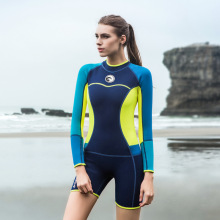 Hisea 1.5MM Close Body Women Wetsuit One Piece Long Sleeve Surfing Swimming Diving Suit Ladies Prevent Jellyfish Snorkeling