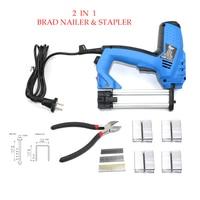 Adjustable 2 In 1 Framing Tacker Electric Nails Gun 220V EU Plug Electric Power Tools Electric Staple Gun With 800pcs Nails