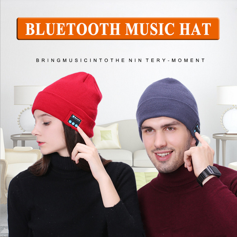 MICORSAX 2018 New Multifunction Winter Hats Bluetooth Earphones Outdoor Sports Music Player Beanie Cap with Stereo Speakers Mic